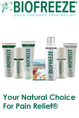 We are an authorized BIOFREEZE dealer