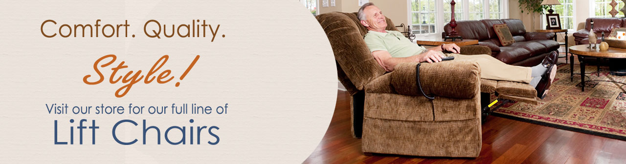 Comfort, Quality, and Style. Shop online and choose your lift chair!